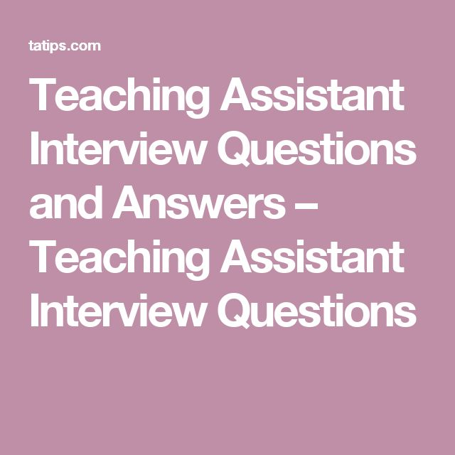 success in any job interview relies on careful preparation and a teaching assistant interview is no - Cover Letter For A Teaching Assistant Job