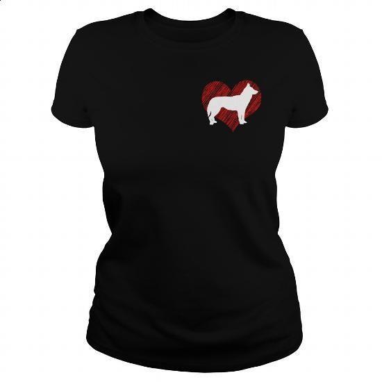 I Love My Siberian Husky 2 on Red Heart Tee - #movie t shirts #volcom hoodies. BUY NOW => https://www.sunfrog.com/Pets/I-Love-My-Siberian-Husky-2-on-Red-Heart-Tee-Black-Ladies.html?60505