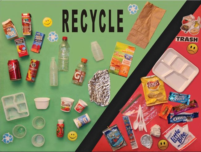 Greentip make a 3d instructional poster to encourage for Recycling ideas for kids