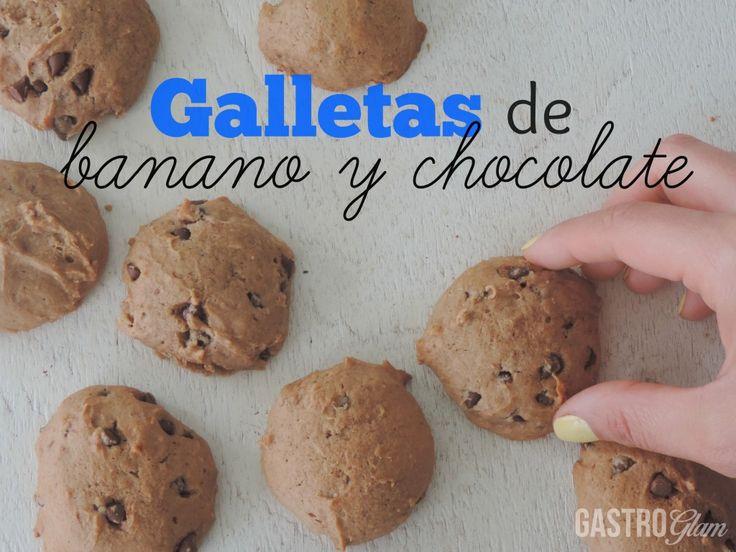 Cómo hacer galletas de banano y chocolate