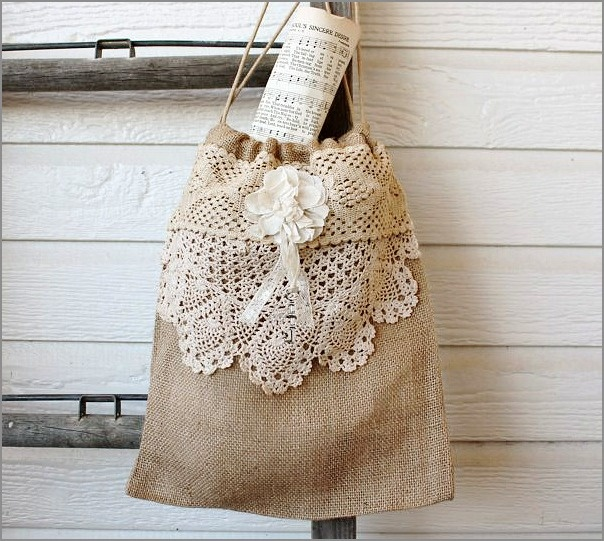Another beautiful and creative use for vintage doillies