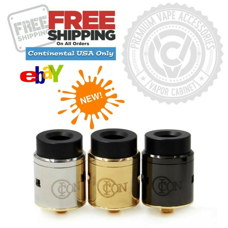 #REPOST **NEW ITEM IN STOCK! // Icon RDA $22.95 http://www.ebay.com/itm/322788510618  Colors: Black, Gold, Stainless Order yours NOW at Vapor Cabinet ✔ COME SHOP OUR EBAY! SHIPPED & DELIVERED IN 2 to 3 DAYS! 》》☆》 *Get your Order in NOW!  Choose + Add + Purchase! **Icon RDA: $22.95 ■ U.S. Seller w/Fast, Free Shipping! ⛥》🙌 Start The Process! 💳 🔊 #FeelTheVape & Visit Vapor Cabinet on eBay! #Vapefam #DisabledVaper#Advocate #Cloudchaser #Rebuildables #Drippers #DripVapeRepeat #VapeLyfe