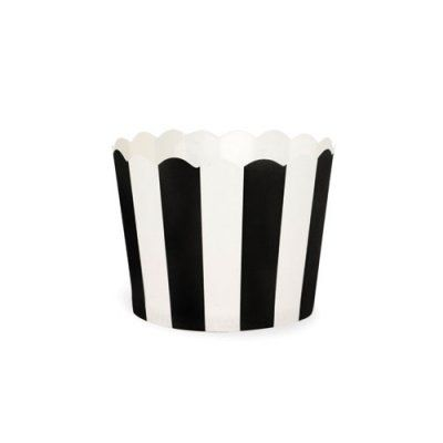 Black Bold Stripes Baking Cup