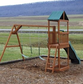 Kids Swing Set with Small Tower