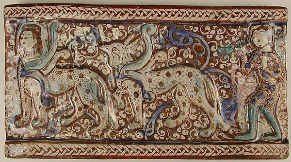 Tile Date: 13th century Geography: Iran Culture: Islamic Medium: Stonepaste; luster-painted