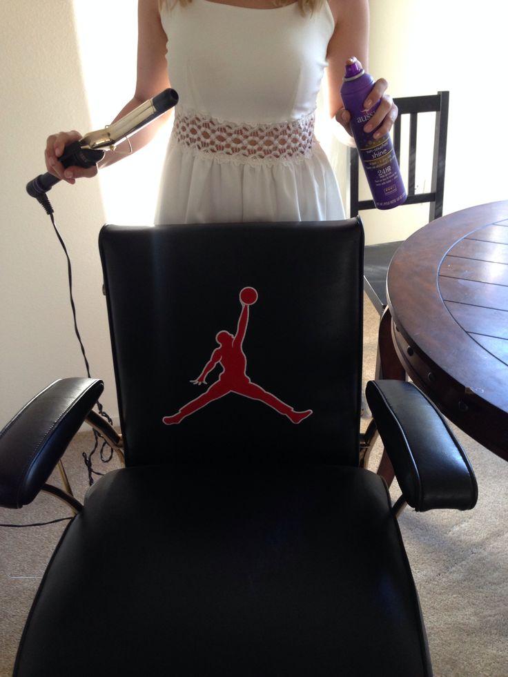 Michael Jordan Jump Man Themed Barber Chair Home Decor