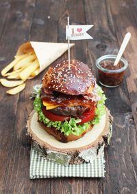 burger hamburger confit oignon