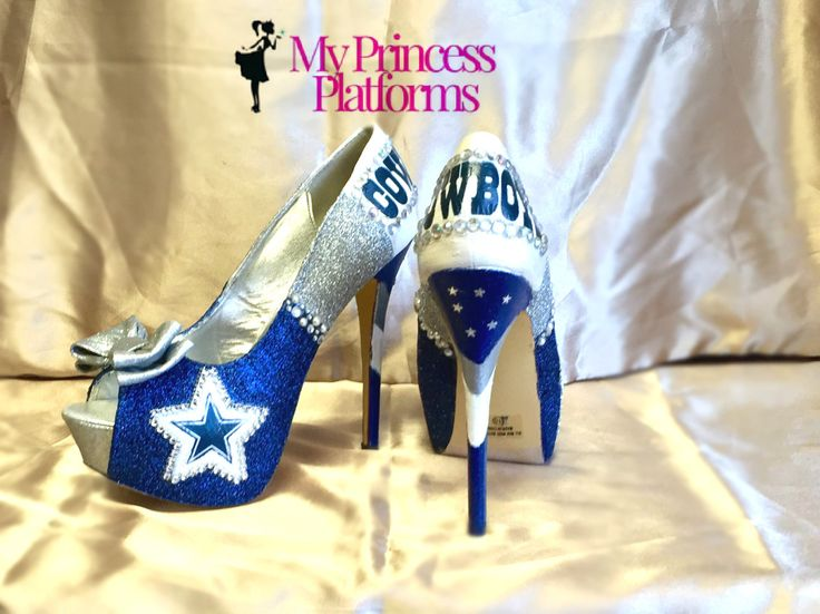 Dallas Cowboys inspired Heels. All sizes Teams and Custom orders available…