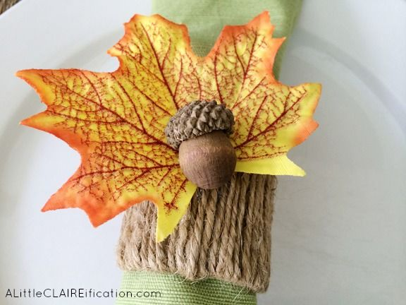 Fall Napkin Rings Ideas
