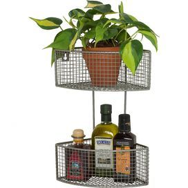 2-Tier Corner Basket