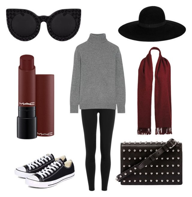 """""""Senza titolo #205"""" by firefashionga on Polyvore featuring moda, Polo Ralph Lauren, Equipment, Converse, Alexander Wang, Delalle, Maison Michel e Wilsons Leather"""