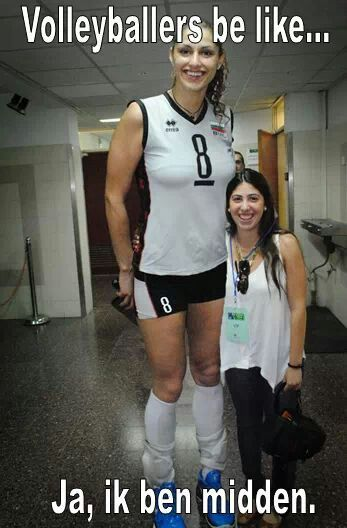 """LOL, so true """"Volleyball players be like... yes, i am center player."""""""