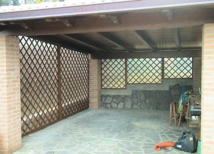 Portici & Gazebo - Grigliati in legno da giardino  Portico anteriore ...