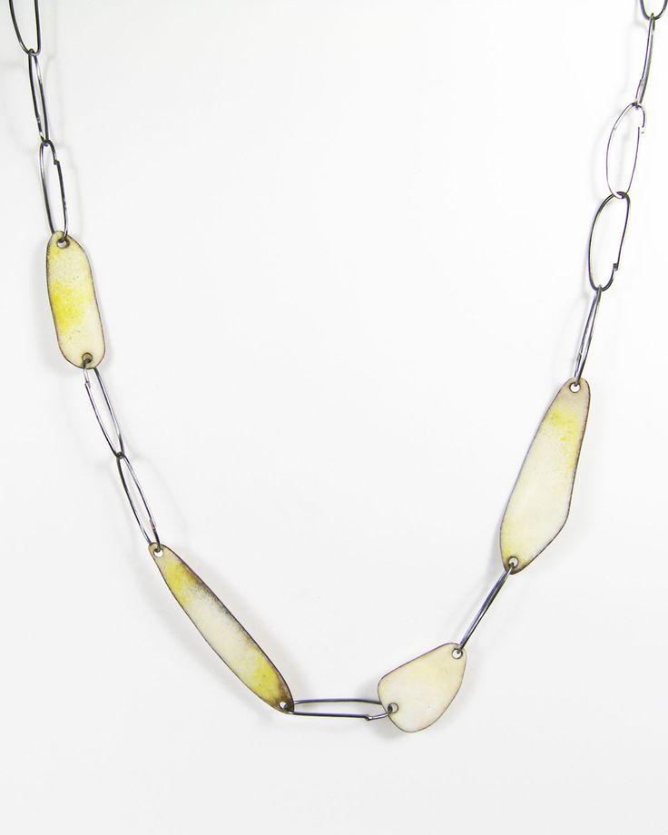 Deborrah Daher, Links & Enamel Necklace - egg.