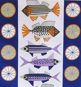 Scandinavian Fish Tea Towel by Almedahls