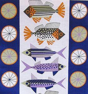 Scandinavian Fish Tea Towel by Almedahls