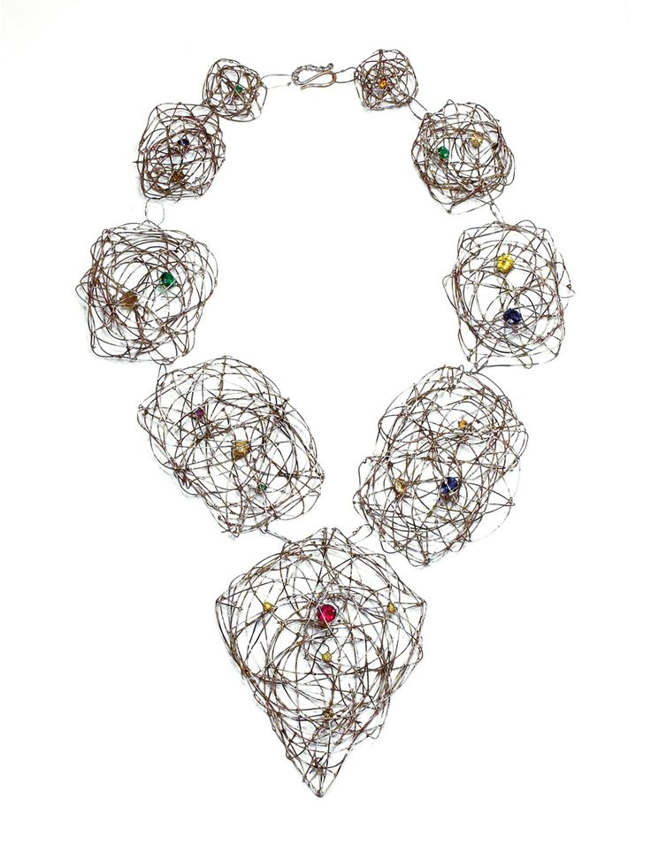 Jürgen Eickhoff Necklace: Untitled, 2015 935 silver, synthetic stones © By the author. Read Klimt02.net Copyright.