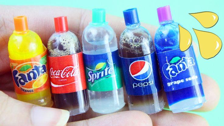 DIY - Botellas de Cola Soda Refrescos Gaseosas realista con liquido ad...