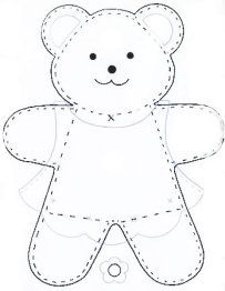 more patterns for felt items including this bear that could be a boy or a girl