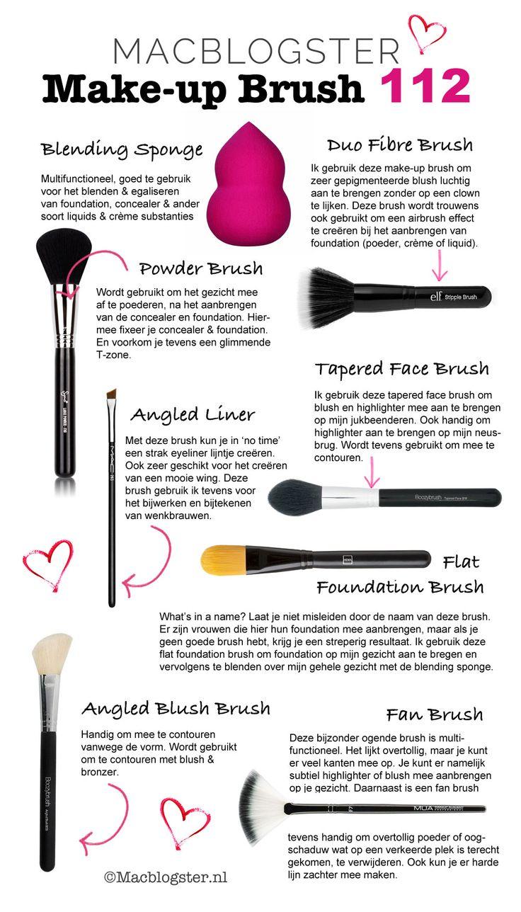 Makeup Brush 911: hoe gebruik je deze make-up kwasten