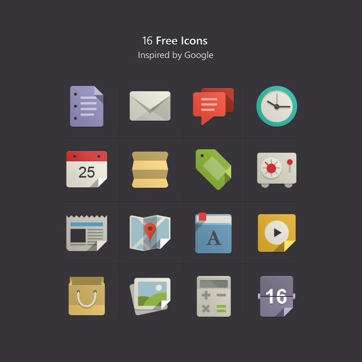 Flat Design Icons Set Vol 1