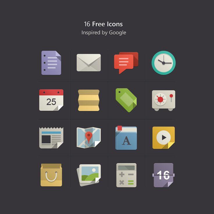 Flat Design Icons Set Vol 1