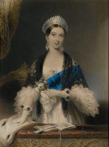 Queen Victoria at Drury Lane Theater by Edmund Thomas Paris
