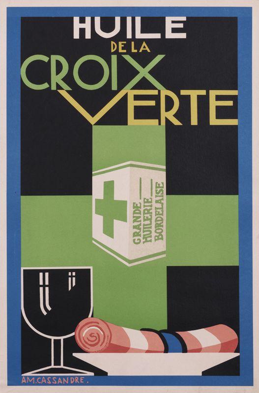 Huile de la Croix Verte, 1925 by A.M. Cassandre