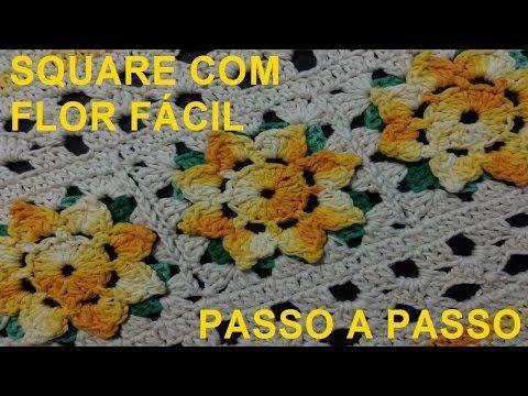 florzinha squares video aula para destros - YouTube