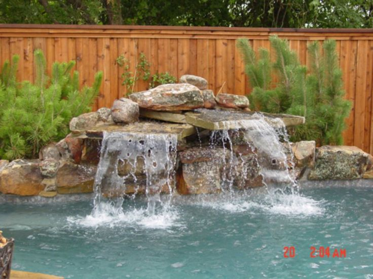 Swimming Pool Rock Waterfalls Waterfall Construction At Natural Blue Pools Pools Pavilions