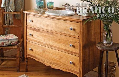 1000 id es sur le th me salles de bains shabby chic sur for Transformer commode en meuble salle de bains