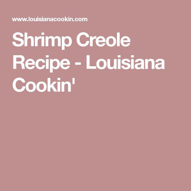 Shrimp Creole Recipe - Louisiana Cookin'