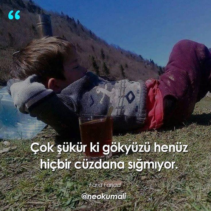 Çok şükür ki gökyüzü henüz hiçbir cüzdana sığmıyor.   - Farid Farjad   (Kaynak: Instagram - neokumali)   #sözler #anlamlısözler #güzelsözler #manalısözler #özlüsözler #alıntı #alıntılar #alıntıdır #alıntısözler #şiir #edebiyat