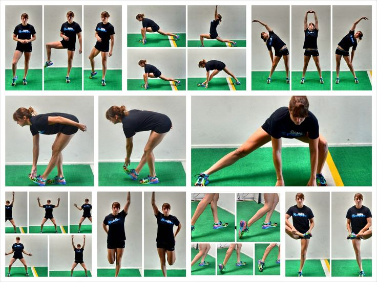 10 Dynamic Stretches for Runners that can be done right on the road or trail before you run! Combine these stretches for a quick 5-10 minute warm up!
