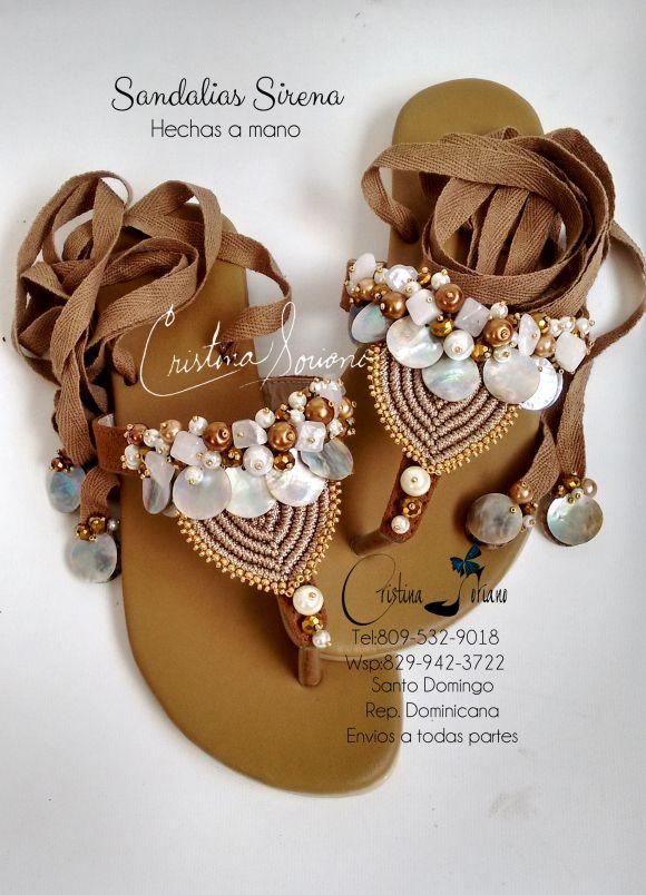 sandalias macrame hechas a mano semana santa caracoles suelas cristina soriano   Cris Axesory