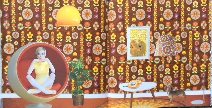 Wallpaper Book. The Year is 1970. Coloured by Prue.