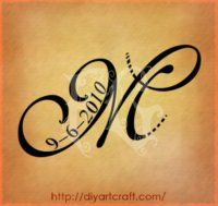 m+J+tattoo | Decorative Per Tatuaggi Maiuscola M E Simboli Tattoo Diyartcraft