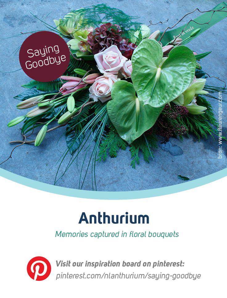 Anthurium& Saying goodbye | inspiratie snijanthurium. Mogelijk gemaakt door de FPC snijanthurium. Check ook de website www.anthurium.info.