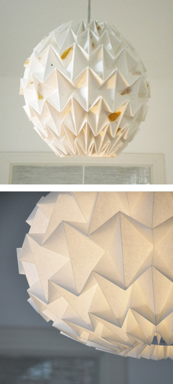 folded paper lanterns