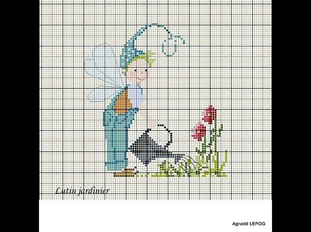 74 best images about cross stitch fairies on pinterest for Jardinier 78