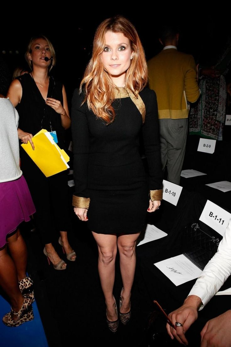 JoAnna Garcia - Monique Lhuillier front row - NY Fashion Week Spring/Summer 2012