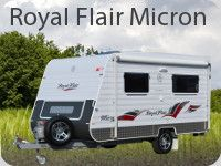 The award winning Micron Series from Royal Flair is packed full of standard features that make this well designed 13ft van a definite winner. Awarded ratings of excellence by the Caravan & Motorhome Magazine for the use of space, storage and value for money, this rear door design is available in nine variations to accommodate the touring needs of two adults.