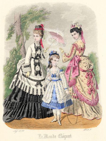 French Ladies & Children's Fashions 1873.