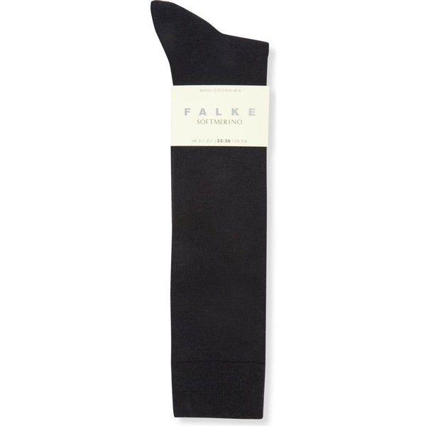 Falke Softmerino knee-high socks ($16) ❤ liked on Polyvore featuring intimates, hosiery, socks, accessories, hoisery, cold weather socks, knee hi socks, knee high socks, knee socks and falke socks
