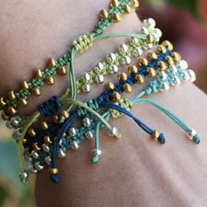 DIY Bollywood Macramé Bracelet Video tutorial - so cute!