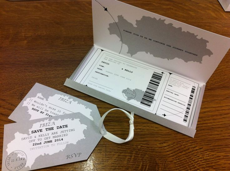 Complete Travel Invitation Package Wedding