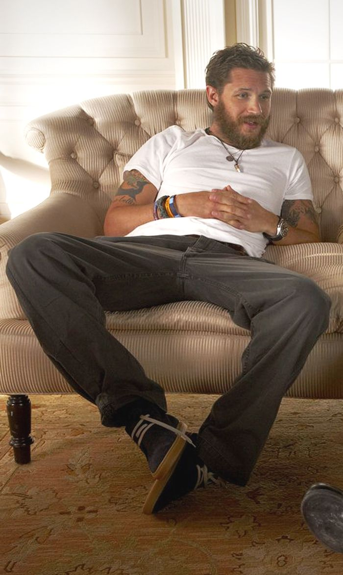 Tom Hardy >>>> I'm  having dirty thoughts right now (where are my knee pads?)!