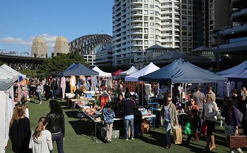 Kirribilli Markets .. Shopping with harbour views