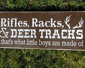 RIFLES racks DEER TRACKS Hand Painted  Rustic Wood Sign, Distressed, Wall Decor, Home Decor