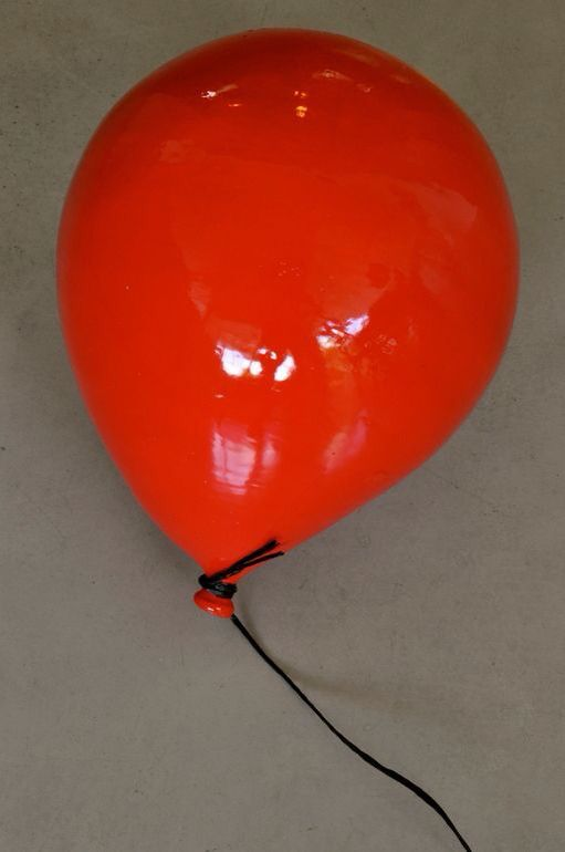 Red Ceramic Balloon by Sivan Sternbach (2013)